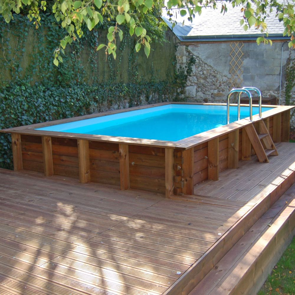 piscine en bois traite lagos l 4 27 x l 2 72 m sunbay