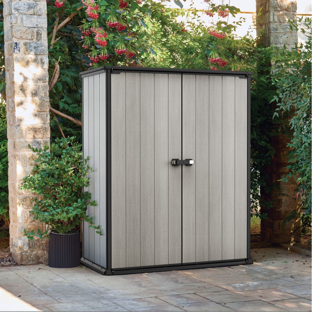 armoire de jardin resine keter 1 m gris