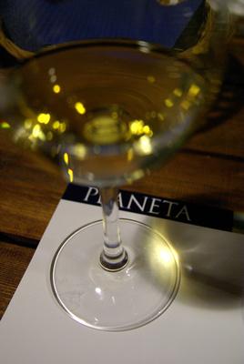 Planeta wine tasting
