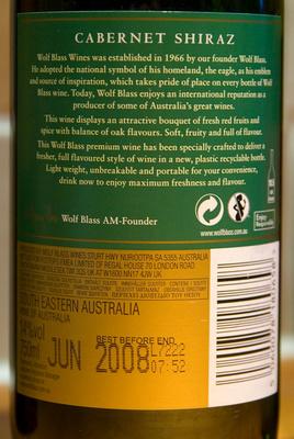 Bottle expiry date