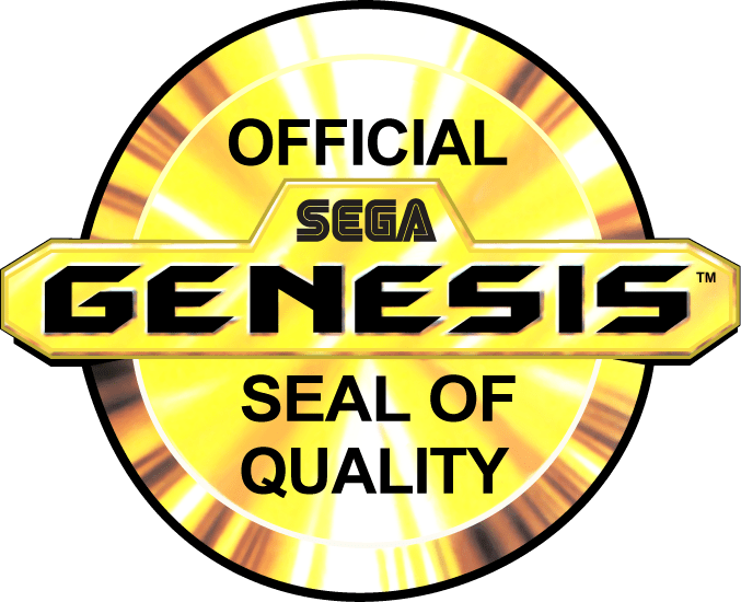 Sega Genesis Official Seal of Quality - gold version