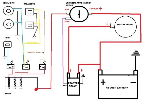 Starter Motor Solenoid Wiring Diagram   hobbiesxstyle