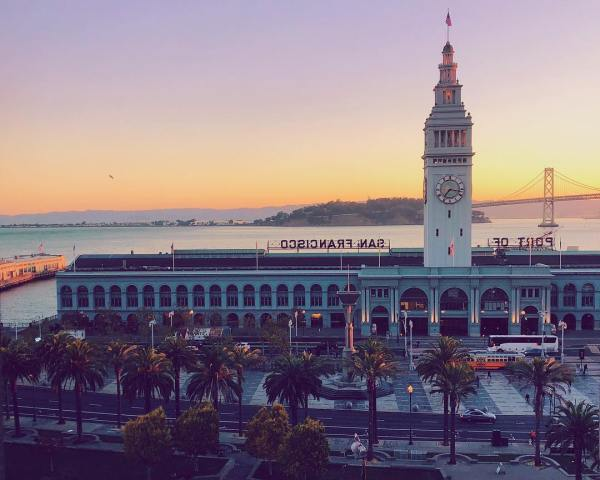 San Francisco already treating us right with this Bay view.