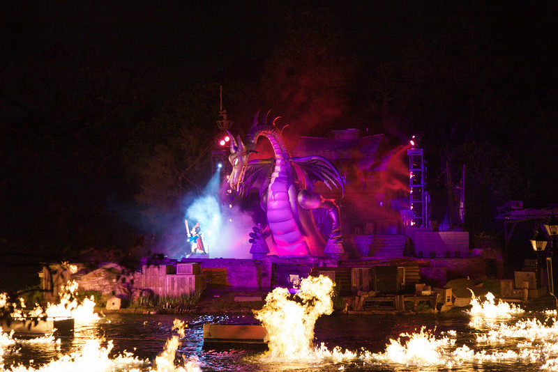 New Fantasmic! dragon at Disneyland