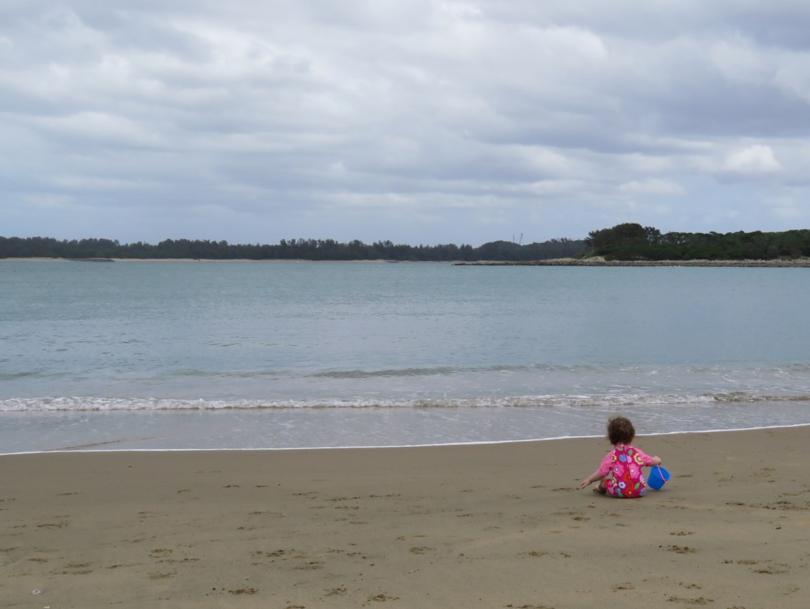 Child on the beach