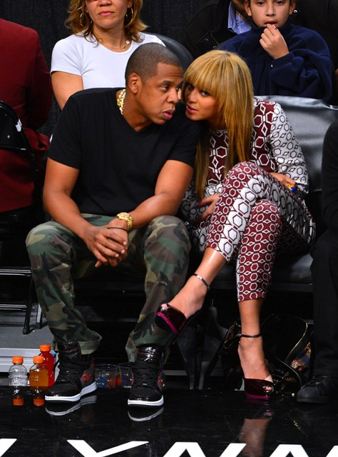 Beyonce Courtside With Jay Z At Brooklyn Nets Home Opener