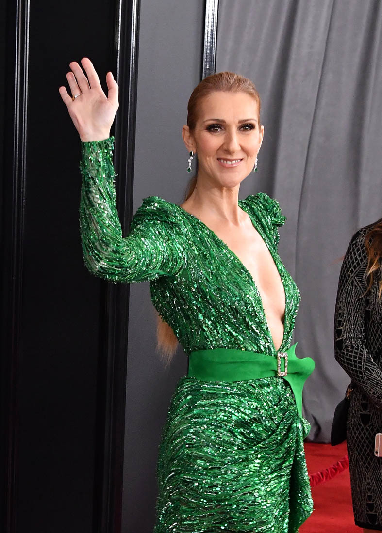 Celine Dion Presents Grammy Award To Adele With Love