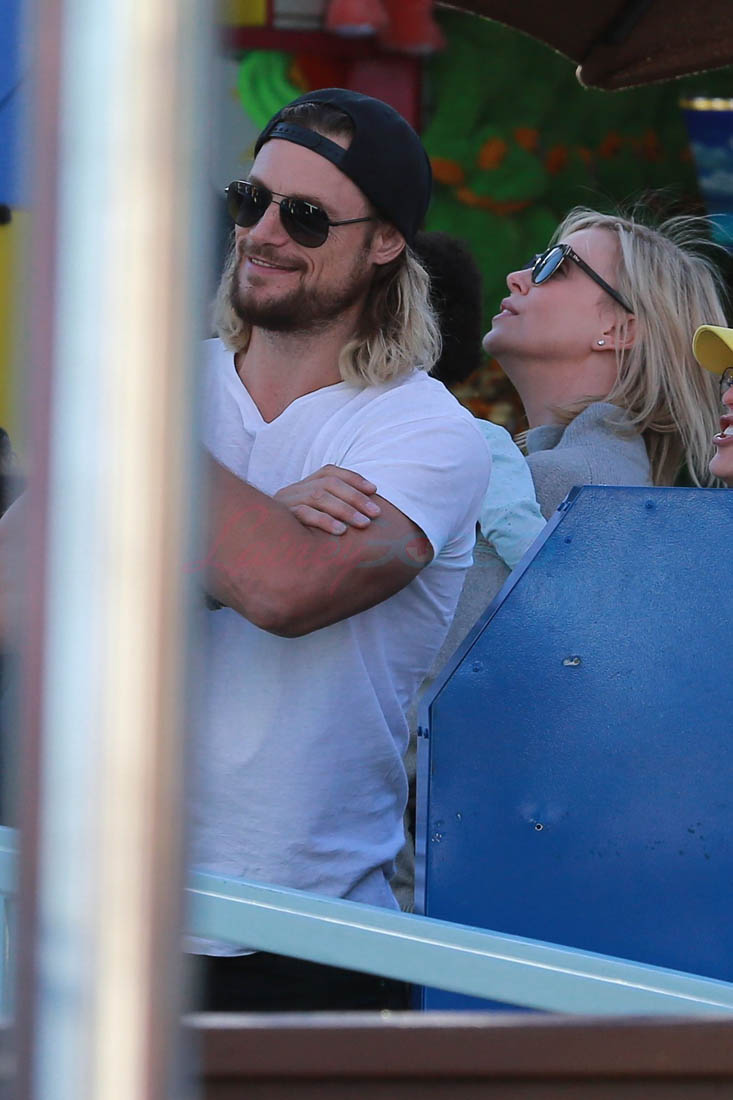 Charlize Theron And Gabriel Aubry Photographed Together In