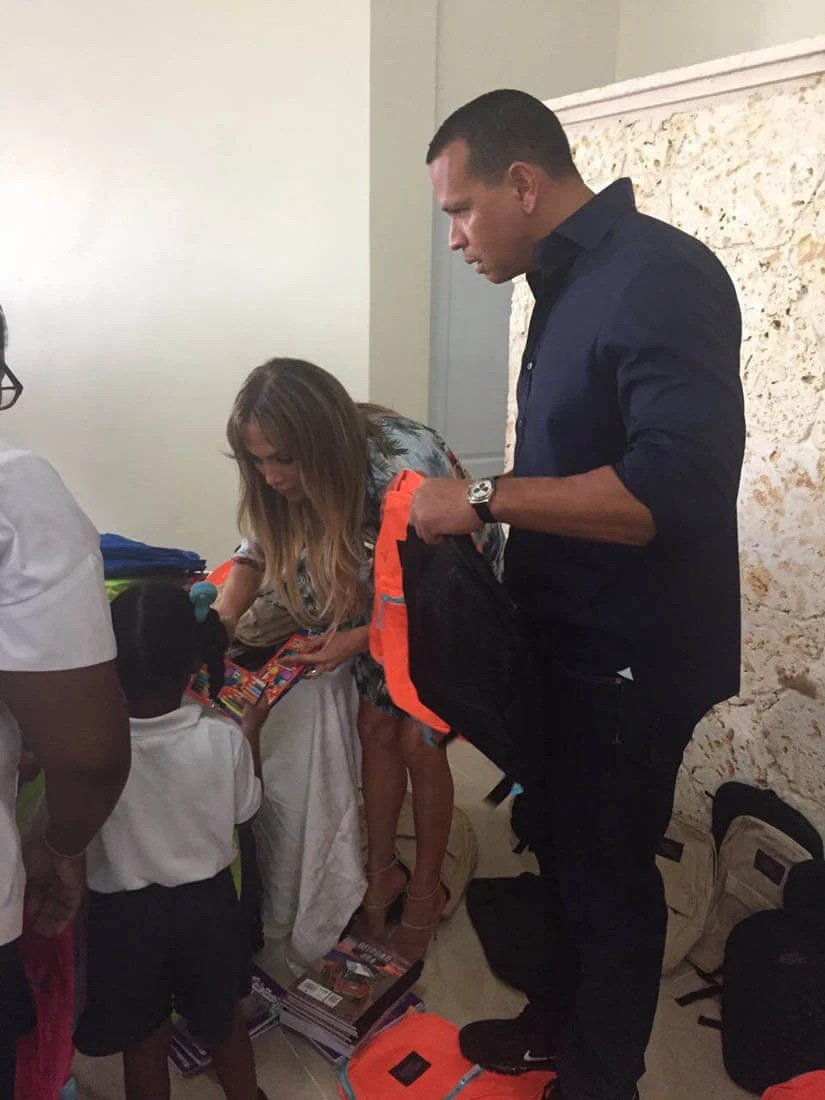 Jennifer Lopez And Alex Rodriguez In The Dominican