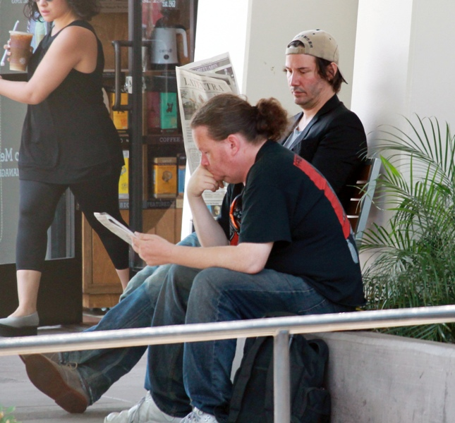 Keanu Reeves (49)at the Coffee Bean in Hollywood