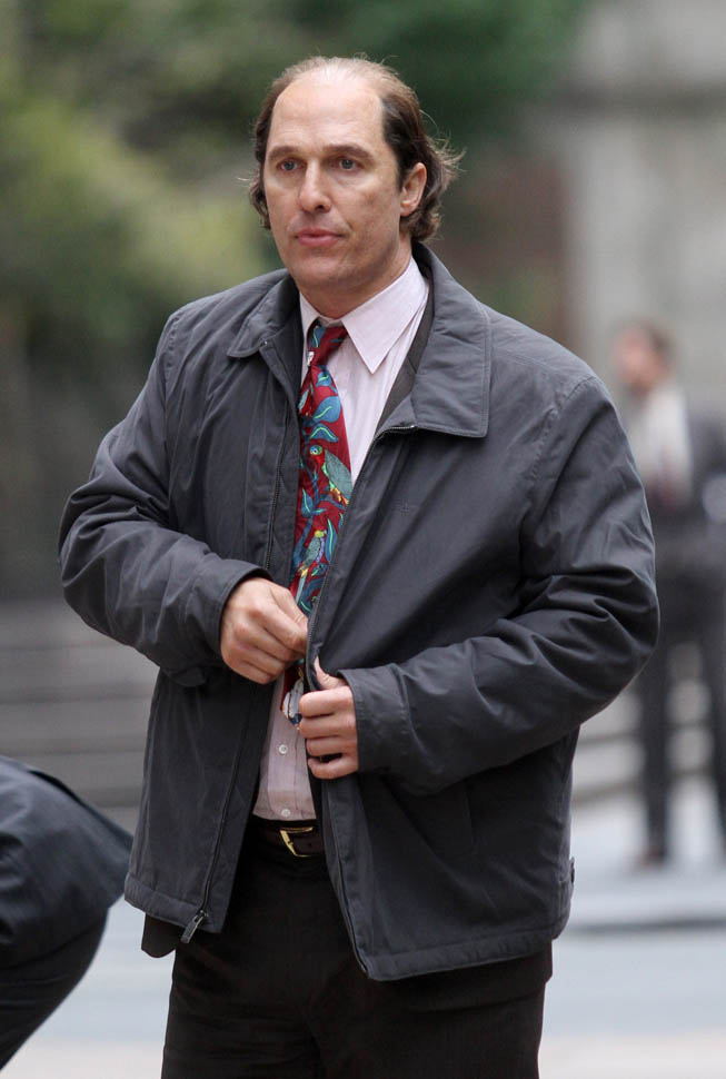 Matthew McConaughey Is Balding On The Set Of Gold In New