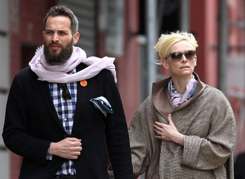 Tilda Swinton Walks With Her Boyfriend And Rules The World