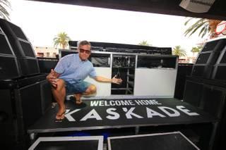 Resident DJ Kaskade on Saturday, April 25, 2015, at Encore Beach Club.