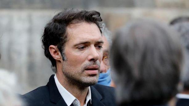 Nicolas Bedos aux obsèques de son père Guy Bedos, le 4 juin 2020 à Paris.