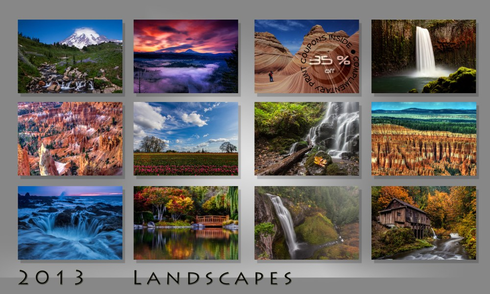 2013 Landscapes Calendar (1/6)