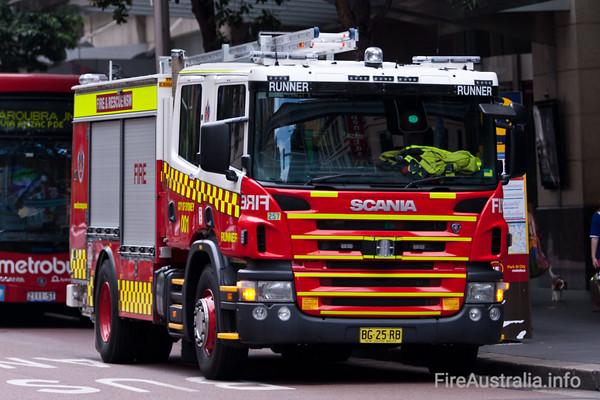FRNSW Runner 1 New ScaniaA new Scania Pump for Runner 1, City of Sydney Station.
