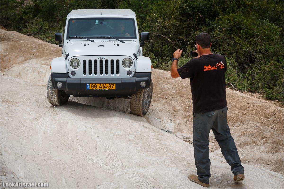 Курс езды по бездорожью на Jeep Cherokee | Jeep Cherokee offload course | LookAtIsrael.com - Фото путешествия по Израилю