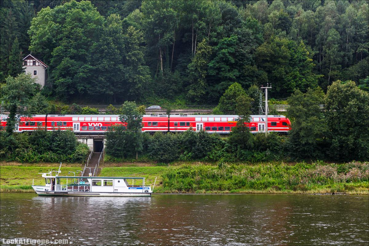 Город курорт на Эльбе Бад Шандау | LookAtEurope.com - Фотогалоп по Европе. Чехия, Германия, Голландия