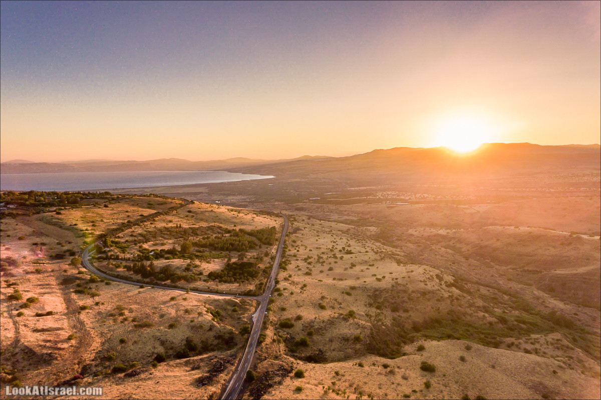 Взгляд свысока: Маале Гамла, Кинерет и Голанские высоты