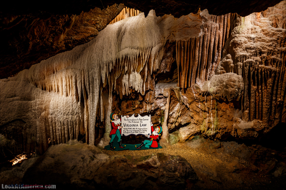 Пещеры Шенандоа | Shenandoah Caverns | LookAtAmerica.com - Большое Американское путешествие LookAtIsrael.com
