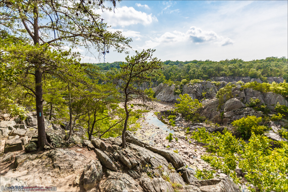 Водопады на реке Патомак. Национальный парк Грейт Фолс | Great Falls of Patowmack | LookAtAmerica.com - Большое Американское путешествие LookAtIsrael.com