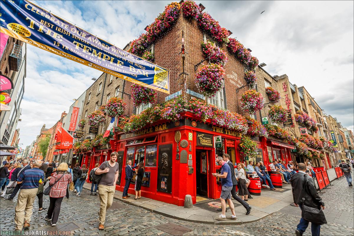 Дублин, Темпл бар, дублинская игла, церковь Патрика, дублинский замок, река Лиффи, Тринити колледж - LookAtIsrael.com путешествует по Ирландии