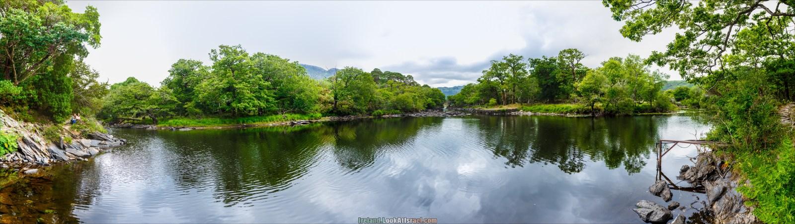 Кольцо Керри, Парк Килларни, Встреча вод трех озер | The Ring of Kerry, Killareny Park, Meeting waters, Lough Leane, Mukcross lake, Upper lake | LookAtIsrael.com путешествует по Ирландии