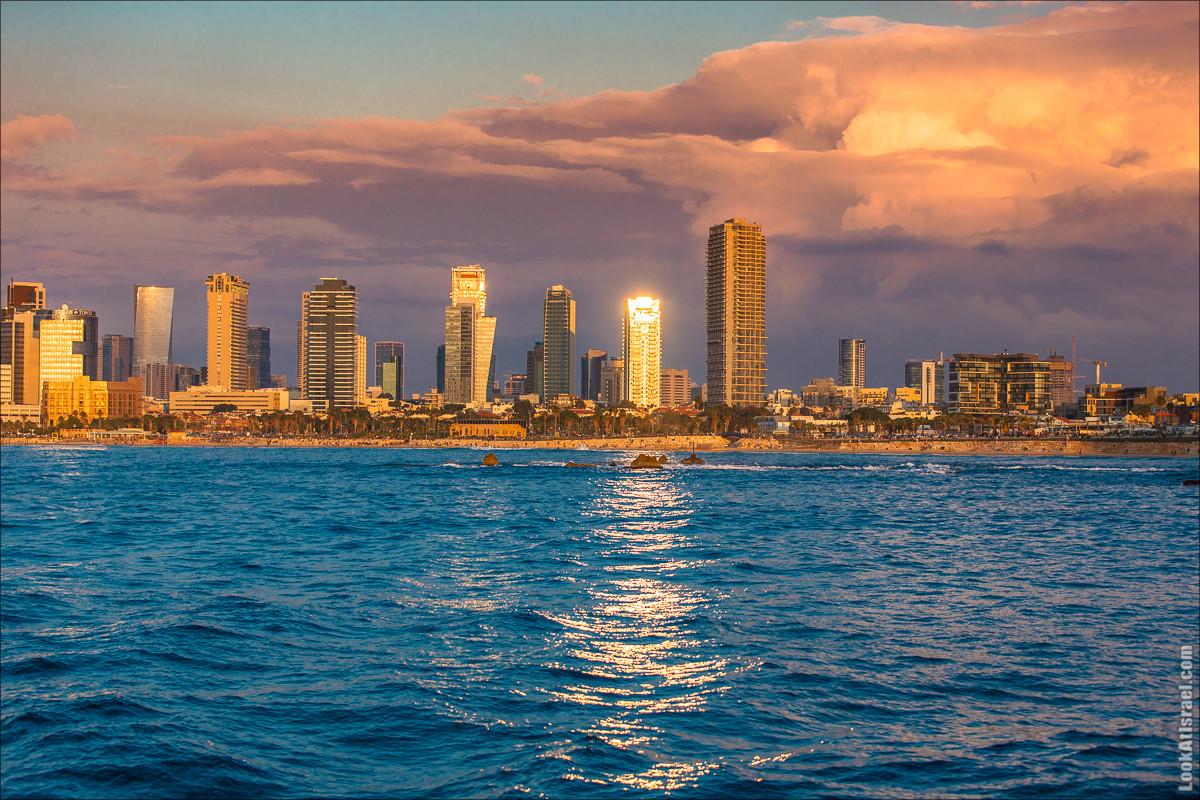 Закат в Тель-Авиве | LookAtIsrael.com - Фото путешествия по Израилю