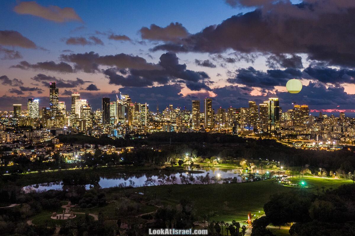 В небе вечернего Тель-Авива