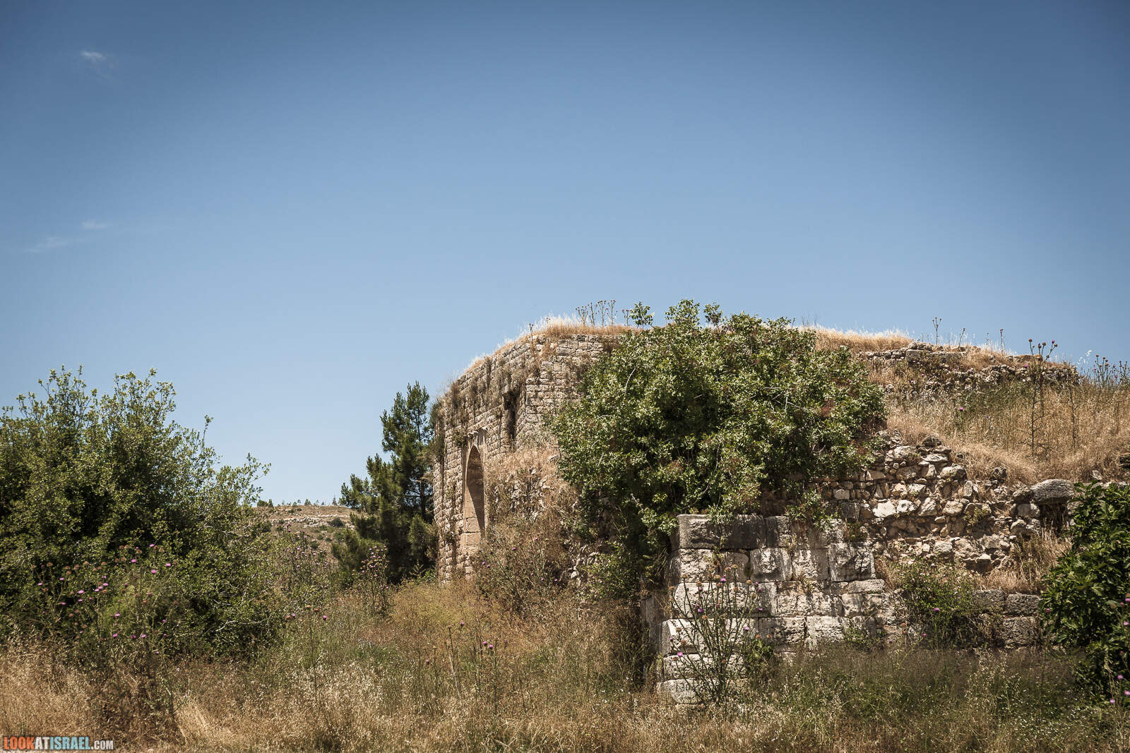 Крепость Хунин (хонин) Шато Неф в Израиле | שטו נף מצודד הונין | LookAtIsrael.com - Фото путешествия по Израилю