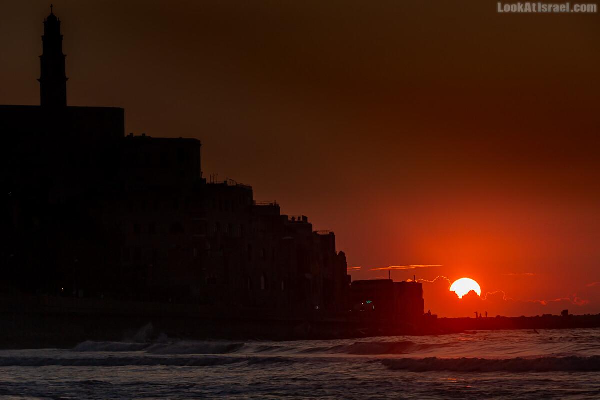 Закат над морем в Яффо | Jaffa sunset | LookAtIsrael.com - Фото путешествия по Израилю