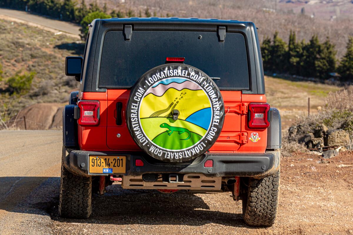 Чехол для Джип Рэнглер JL   Jeep Wrangler Custom Tire Cover   כיסוי אישי לגלגל רזרבי   LookAtIsrael.com - Фото путешествия по Израилю