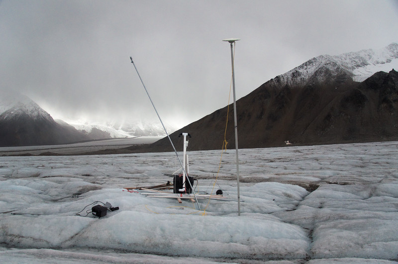 One of the continuous GPS stations with super hi-tech pvc air vent installed.