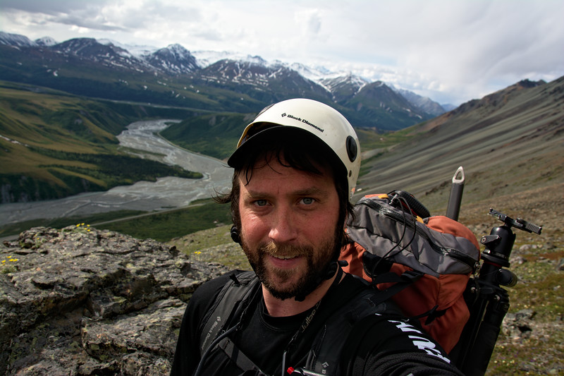 I'm not sure what was going on with my helmet. I guess it didn't want to play well with my hat. On my way up Rainbow Ridge yesterday.