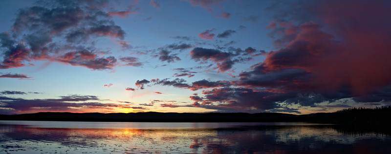Just after midnight on June 7th, 2015. Gorgeous sunset on Birch Lake.