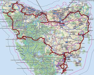 Circumnavigation of Tasmania