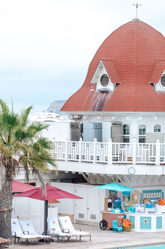 Building Wallpaper:  Victorian, Queen Anne, and French Château Architecture Stock Photos. San Diego's Hotel Coronado, an example of a wooden Victorian Beach Resort.