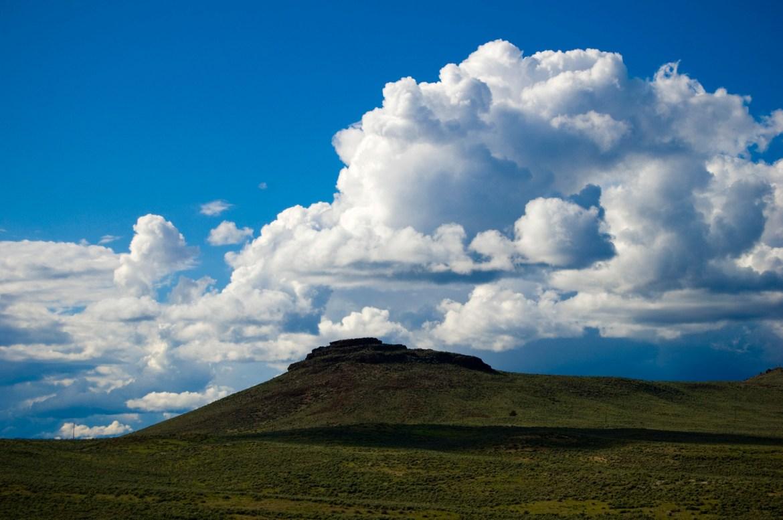Clouds gather over Colorado, USA.