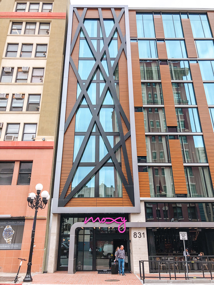 Hotel Photography: The Moxy Hotel in San Diego, California's Gaslamp District.