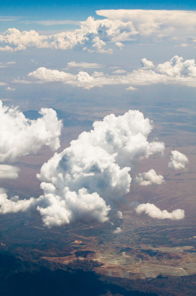 Creative Photography - Free Cloud Background Images. Puffy white clouds billow and float above Southern California.