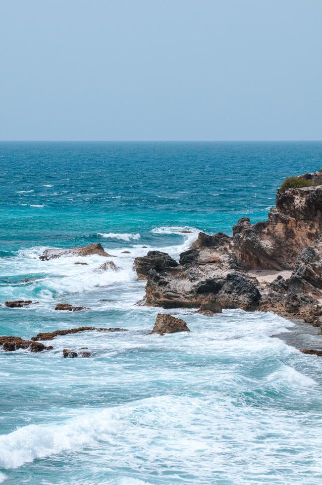 Image Bank: Coastal Landscapes. A view into the Caribbean along the coast of Mexico's Yucatán Peninsula, near Cancun.