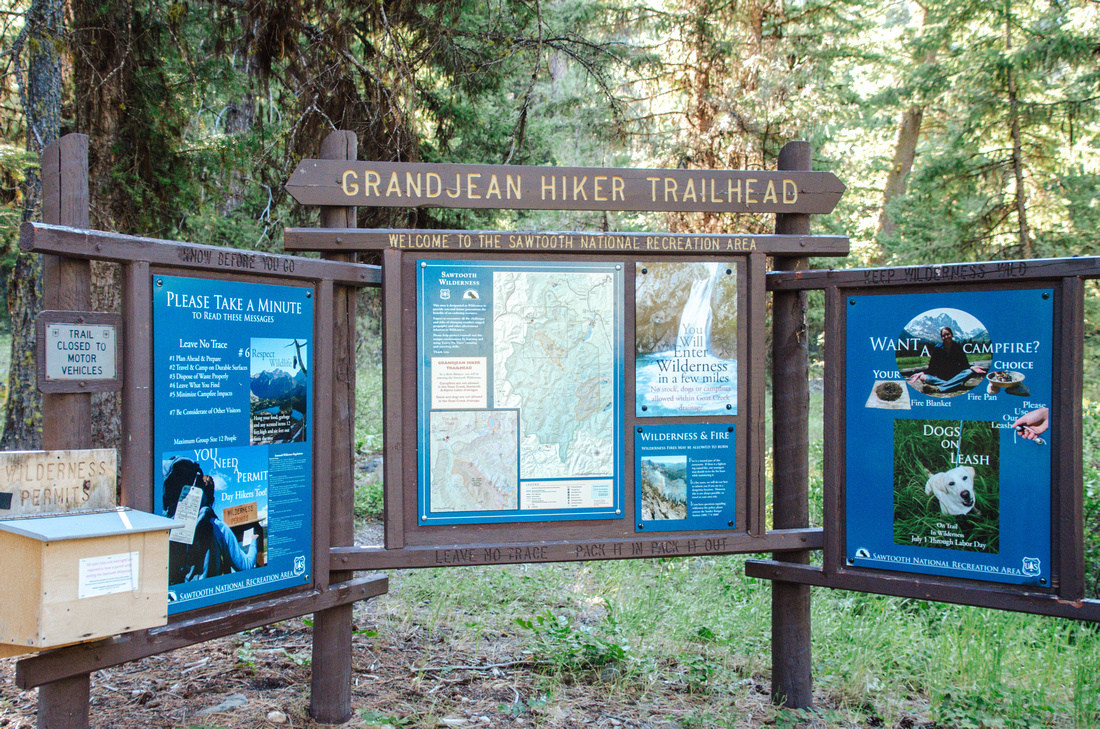 Best Baron Lakes Idaho Hikes - Grandjean Campground and Trailhead to Redfish Lake.  The Grandjean Hiker Trailhead leads into the Sawtooth Wilderness from Grandjean and the Grandjean Campground, near the historic Sawtooth Lodge.