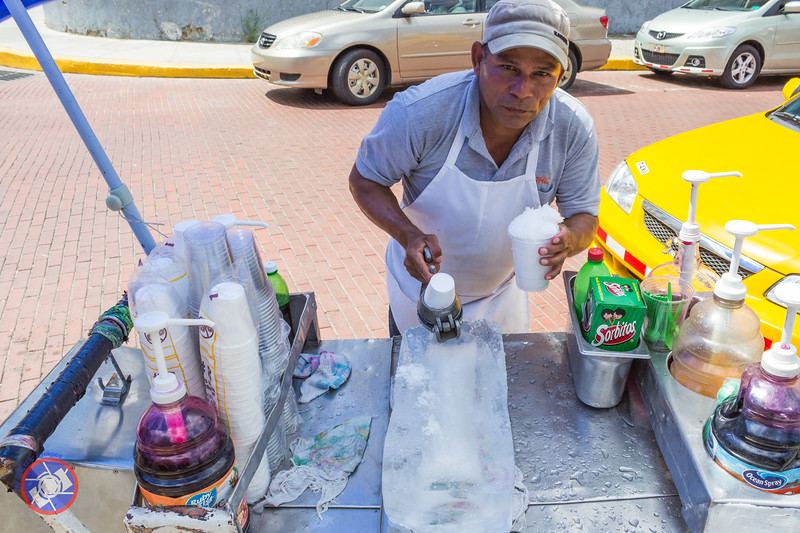 A Shaved Ice Vendor in Panama City