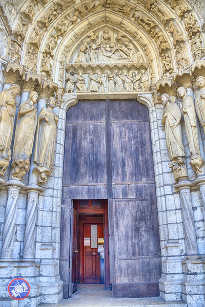 Carvings Surrounding One of the Doors on the North Side of Chartres Cathedral (©simon@myeclecticimages.com)