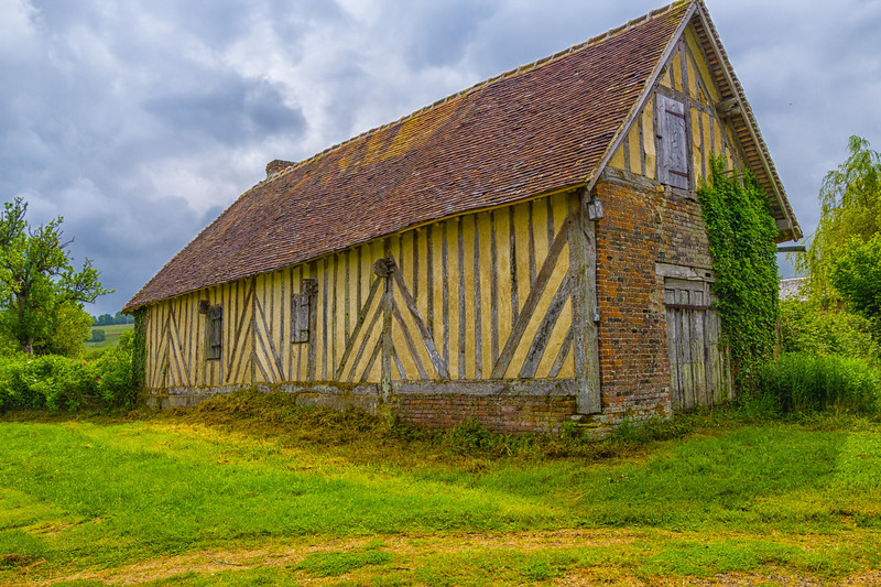 A Typical Old Barn in Normandy (©simon@myeclecticimages.com)