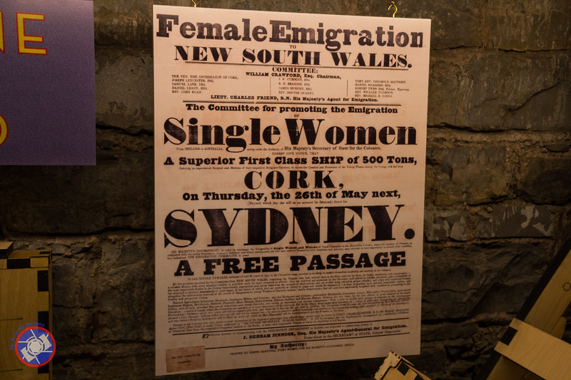 A Poster Seeking Single Women to Emigrate to Australia on Display at EPIC (©simon@myeclecticimages.com)