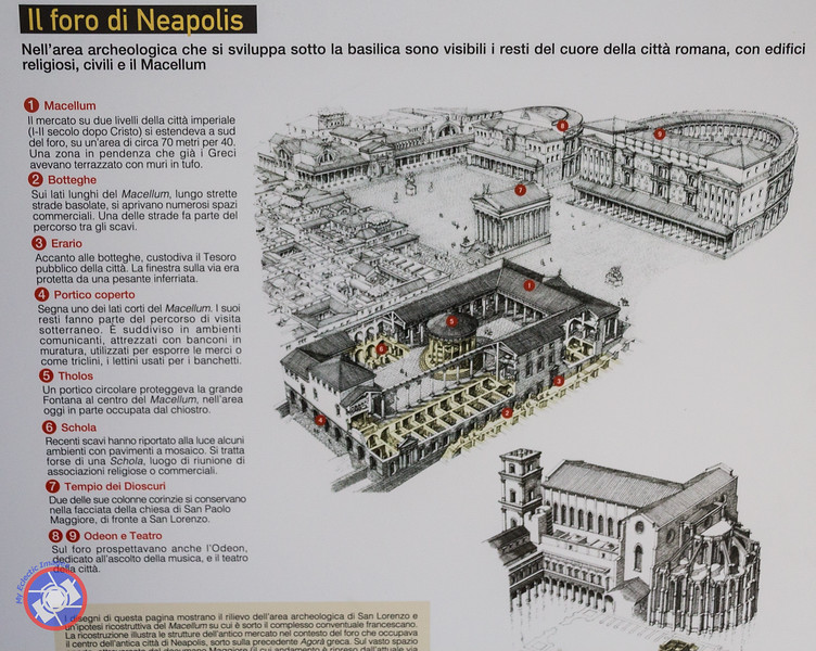 """A Diagram Showing the \""""Naples Lasagne\"""" at San Lorenzo Maggiore (©simon@myeclecticimages.com)"""
