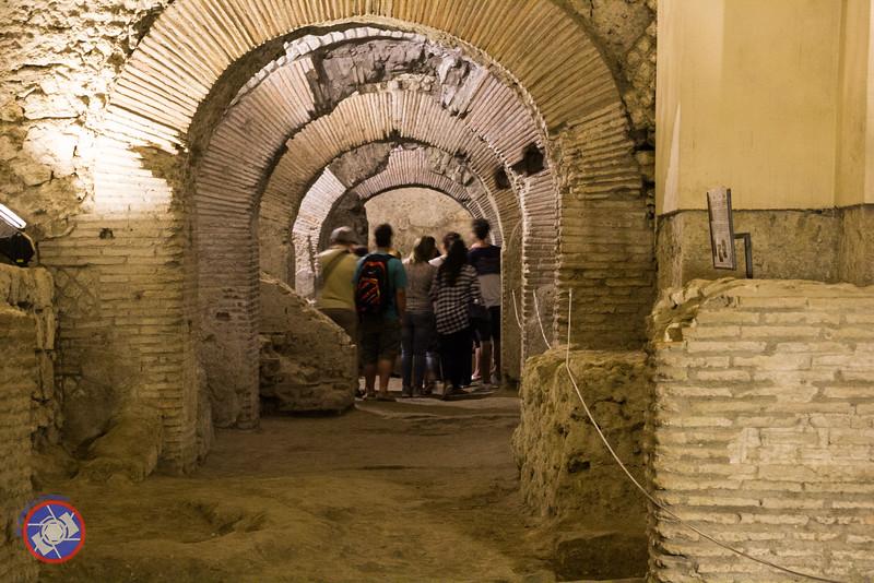 A Street Scene in the UndergroundComplex at San Lorenzo Maggiore (©simon@myeclecticimages.com)