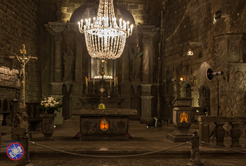 Closer View of the Altar in the Chapel to St. Kinga in the Wieliczka Salt Mine (©simon@myeclecticimages.com)