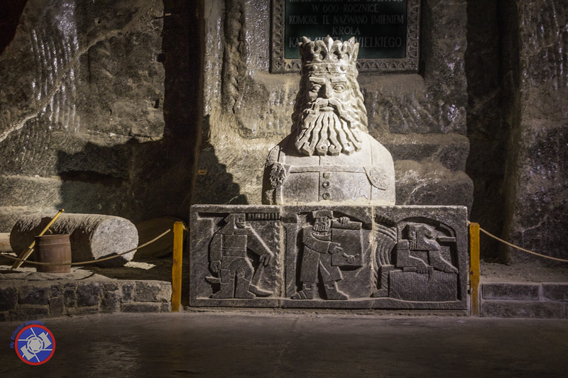Carving of King Wenceslas in the Wieliczka Salt Mine (©simon@myeclecticimages.com)